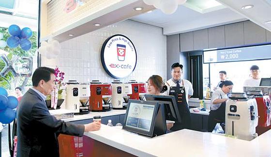 한국도로공사의 'ex-cafe(이엑스 카페)' 모습. [사진 한국도로공사]