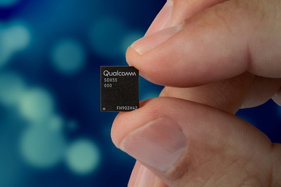 퀄컴의 최신 5G 통신칩 스냅드래곤 X55. 현존하는 5G 모뎀칩 가운데 가장 안정적이라는 평가를 받고 있다. [사진 퀄컴코리아]