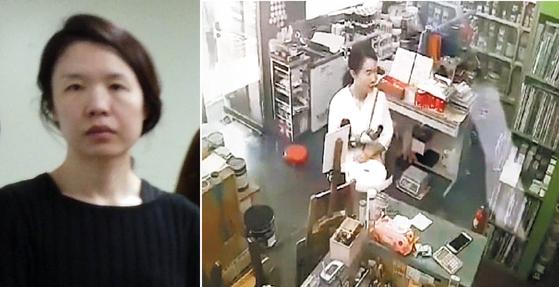전남편을 살해한 혐의로 구속된 고유정(36)이 지난달 29일 오후 인천의 한 가게에서 범행도구를 사는 모습. [연합뉴스]