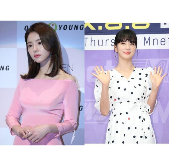 왼쪽부터 배우 신세경씨와 가수 윤보미씨. [일간스포츠, 뉴스1]