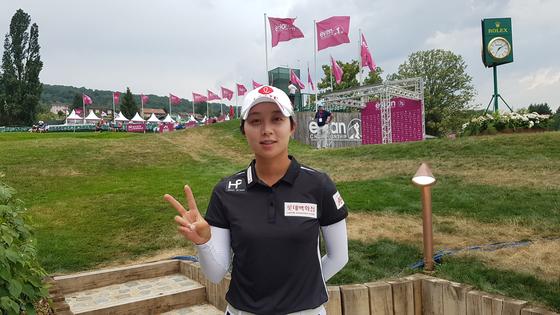 27일 열린 LPGA 투어 에비앙 챔피언십 2라운드를 마친 뒤 만난 김효주. 에비앙 레뱅(프랑스)=김지한 기자