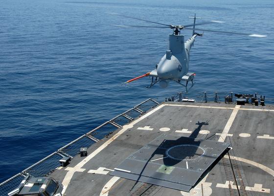 미 해군의 무인헬기 MQ8B '파이어 스카우트' [위키미디어 캡처=연합뉴스]