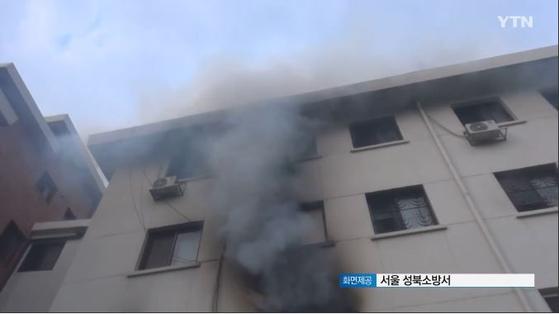 27일 서울 성북구 돈암동에 있는 수녀원 기숙사에서 화재가 발생했다. [YTN 캡처]