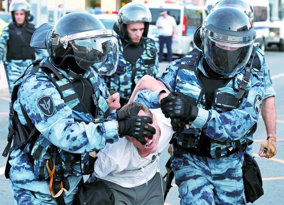 러시아 '공정선거 요구' 시위대 1000명 체포