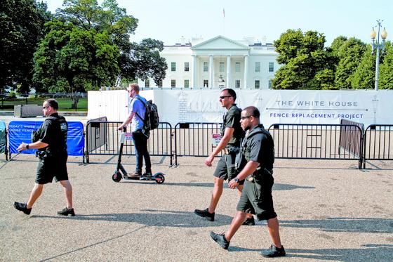 담장 두 배로 높이는 백악관