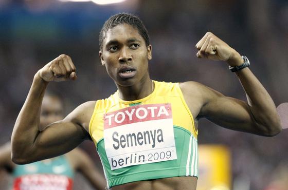 남아프리카공화국의 여자 육상 선수 캐스터 세메냐. [AP=연합뉴스]