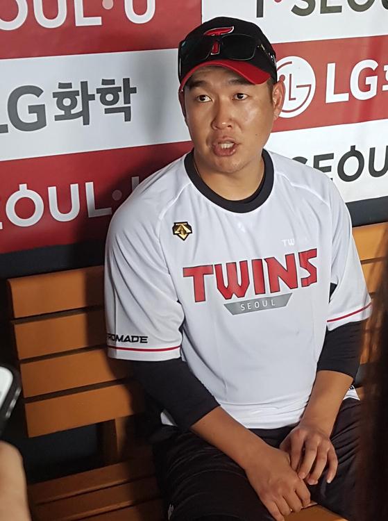 한화에서 LG로 이적한 송은범. [연합뉴스]
