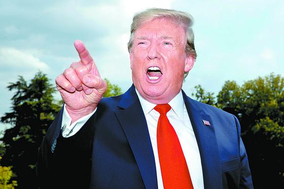 도널드 트럼프 미국 대통령이 지난 6월 백악관에서 기자회견을 하고 있다. [AP]