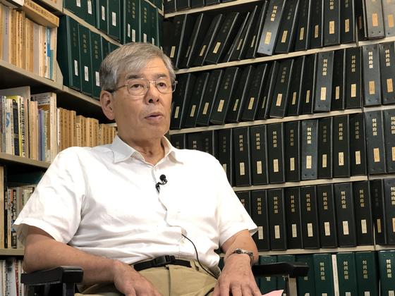 우치다 마사토시 변호사가 30일 중앙일보와 인터뷰를 하고 있다. [박상용 JTBC기자]