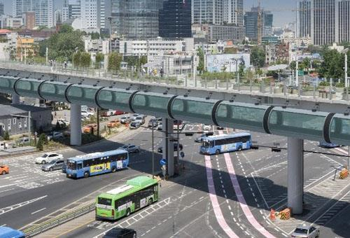 서울로 옆에 설치될 '튜브형 자전거 하이웨이' 조감도. [사진 서울시]
