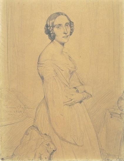 마리 다구. Théodore Chassériau 그림. 1841. 루브르 미술관 소장.