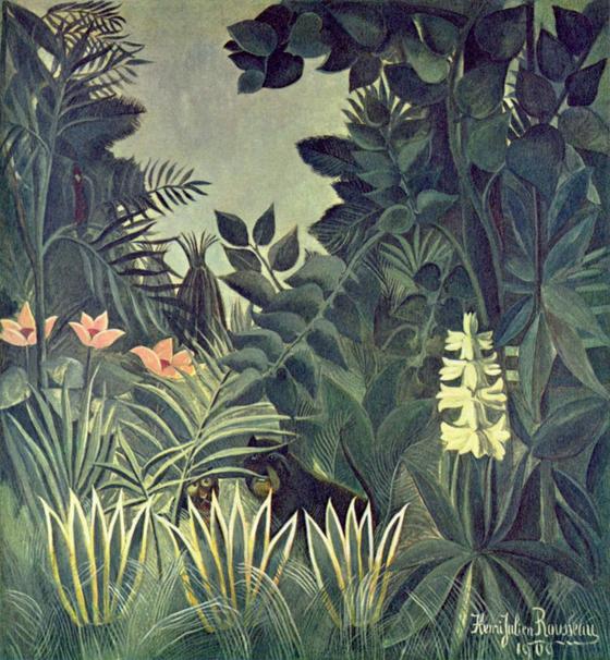 1909년 앙리 루소의 작품 '열대우림' Oil on canvas 1909 National Gallery of Art. [사진 Wikimedia Commons]