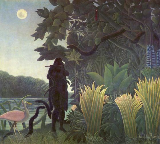 '뱀을 부리는 여인' Oil on canvas 1907 Musee d'Orsay. [사진 Wikimedia Commons]