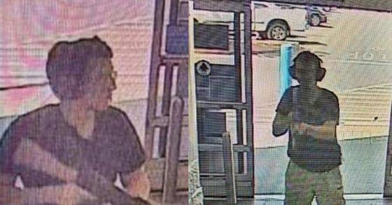 텍사스 엘패소 총격 용의자 패트릭 크루시어스가 포착된 CCTV 장면. [AFP/KTSM9 방송=연합뉴스]