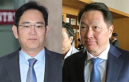 이재용(左), 최태원(右). [뉴스1]