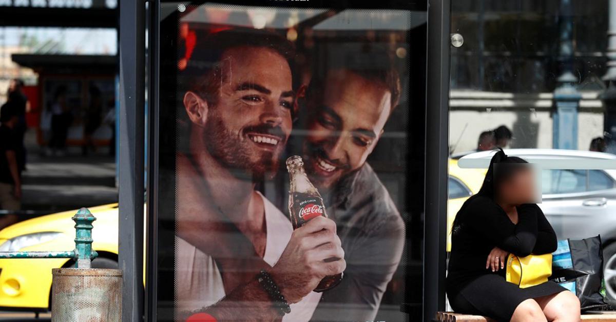 5일 헝가리 부다페스트 시내에 설치된 코카콜라 광고판. [로이터=연합뉴스]