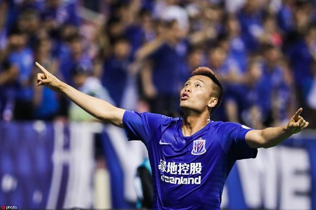 중국 슈퍼리그 상하이 선화에 합류한 뒤 5경기 8골 2도움을 올리며 무시무시한 활약을 펼치고 있는 김신욱. 사진=상하이 선화 홈페이지