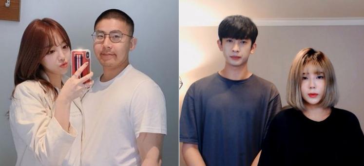 BJ외질혜-BJ철구 부부, BJ서윤과 남자친구 우창범. [사진 외질혜 인스타그램, 유튜브]