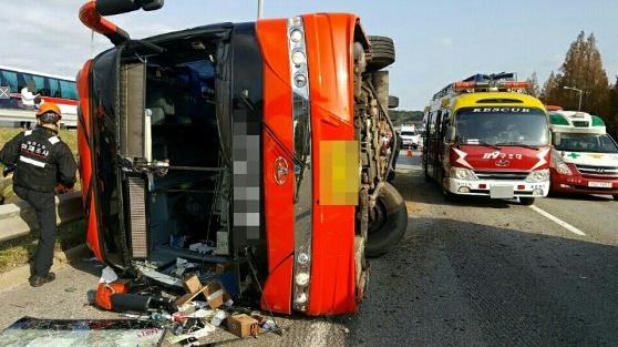 전세버스 사고가 좀처럼 줄지 않고 있다. [연합뉴스]