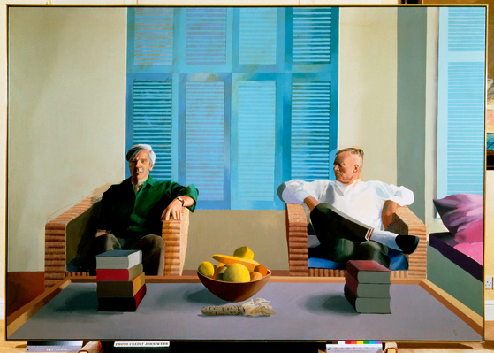 '크리스 이셔우드와 돈 바카디'(Christopher Isherwood and Don Bachardy, 1968, Acrylic on canvas, 83 1/2