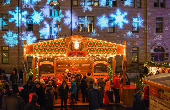 퀘벡시티에서는 정통 독일 분위기의 크리스마스 마켓도 열린다. [사진 캐나다관광청]