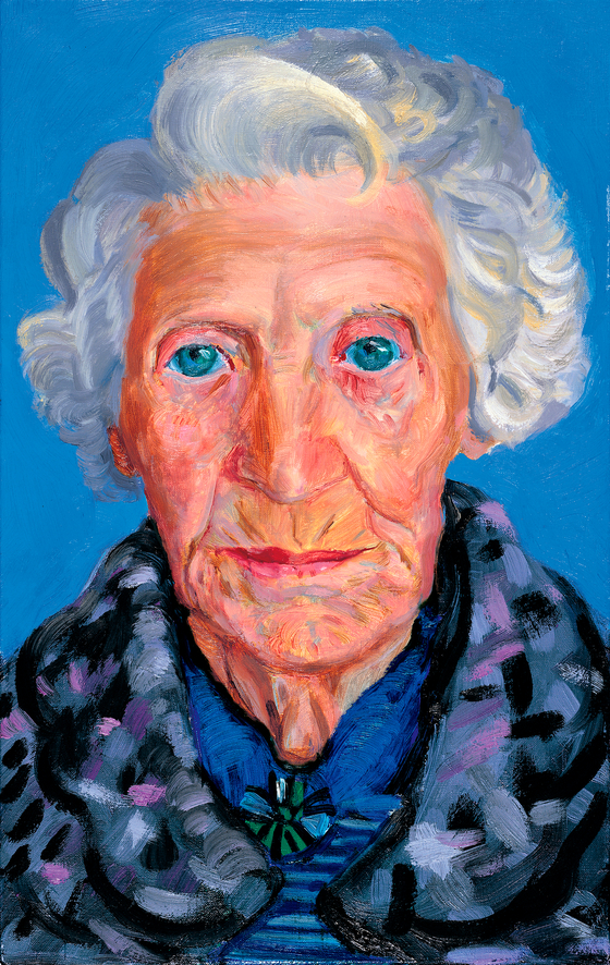 "엄마(Mum, 1988-1989, Oil on canvas 16 1/2"" x 10 1/2"", ⓒ David Hockney) [사진 Collection The David Hockney Foundation, 그린나래미디어]"