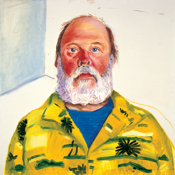 "헨리(HENRY, 1988, OIL ON CANVAS 24 X 24"", ⓒ David Hockney) [사진 그린나래미디어]"