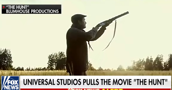 미국 할리우드 영화사 유니버설 픽쳐스가 최근 연이어 발생한 총기사건의 영향으로 '더 헌트(The Hunt)'의 개봉을 취소한다고 밝혔다. [사진 폭스뉴스 캡처]