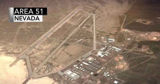 제51 구역의 항공 사진. [사진 '51구역을 급습하자' 페이스북]