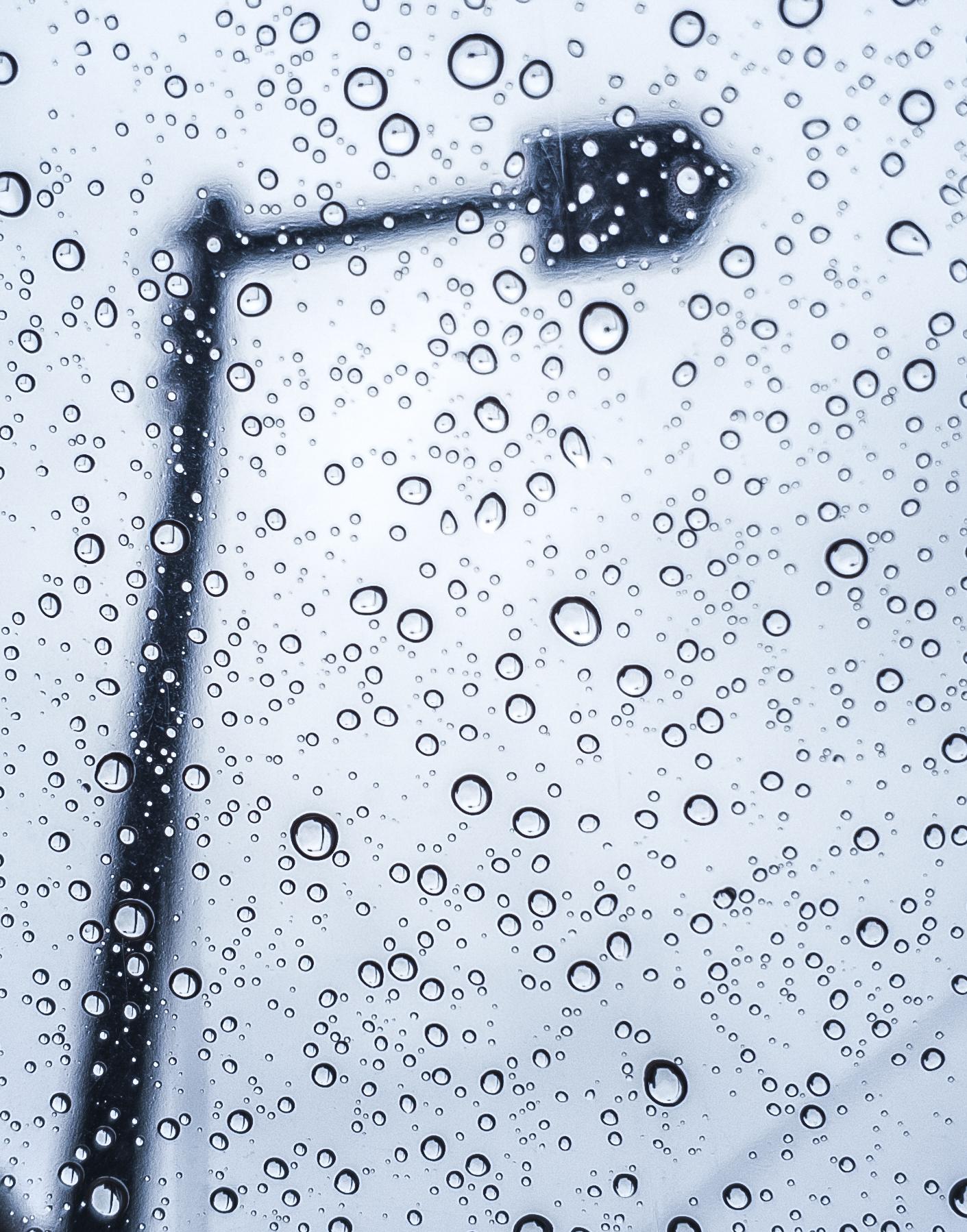 비닐 우산에 맺힌 빗방울 /20190812