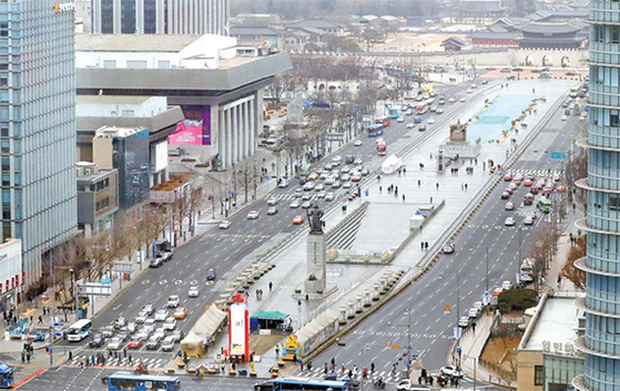 광화문광장 재구조화를 둘러싼 행정안전부와 서울시의 의견 충돌이 지속하고 있다. [뉴시스]