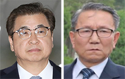 서훈(左), 장금철(右)