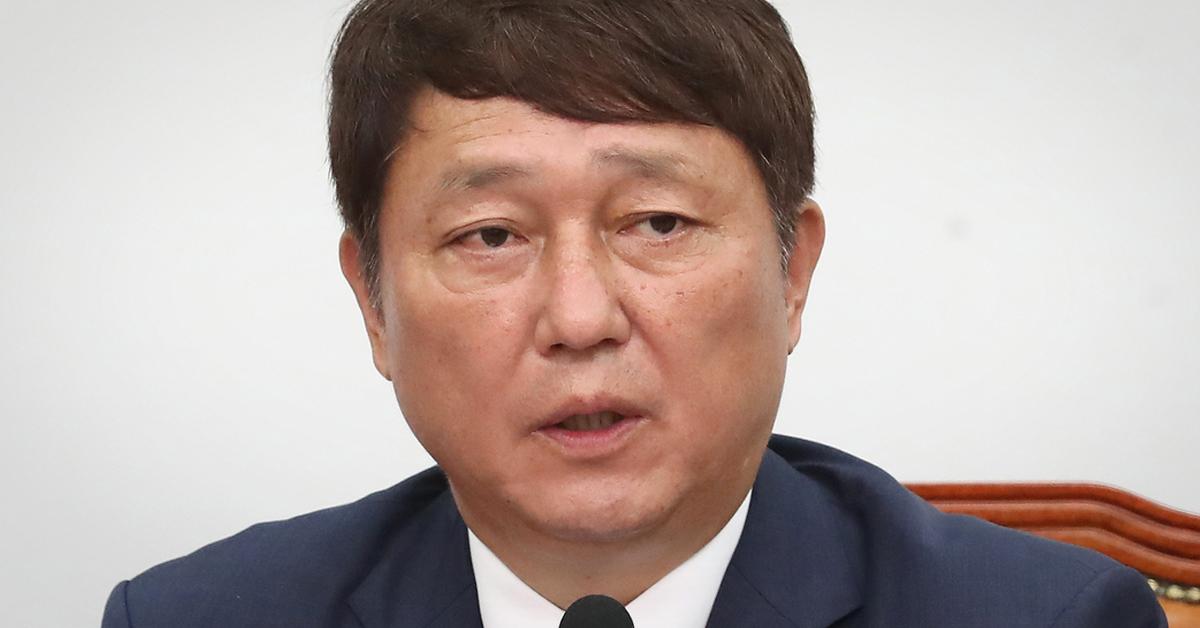 지난 5일 일본경제침략대책 특위서 모두 발언하는 최재성 위원장 [뉴스1]