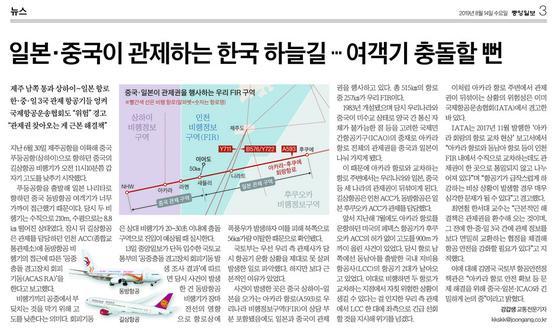 중앙일보 8월 14일자 3면.