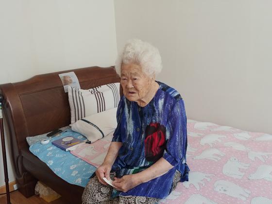경기도 광주 퇴촌면에 위치한 나눔의 집에 거주중인 이옥선(92) 할머니. 권유진 기자
