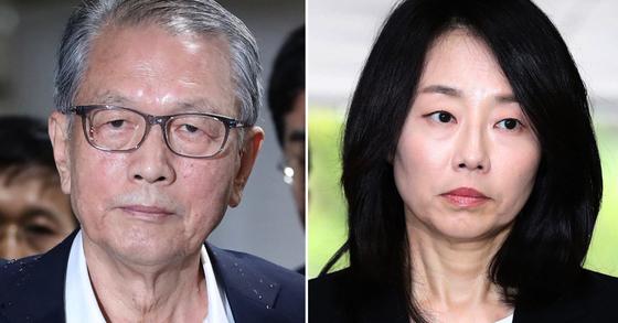김기춘 전 대통령 비서실장(왼쪽)과 조윤선 전 청와대 정무수석 [연합뉴스]