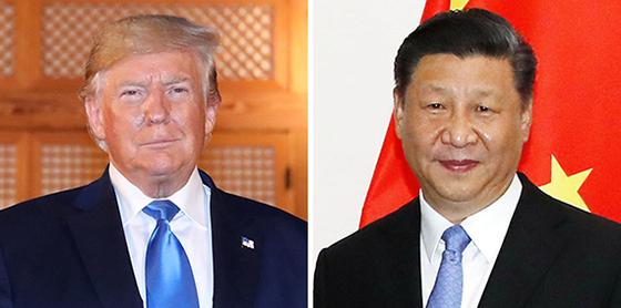 트럼프(左), 시진핑(右). [뉴시스]