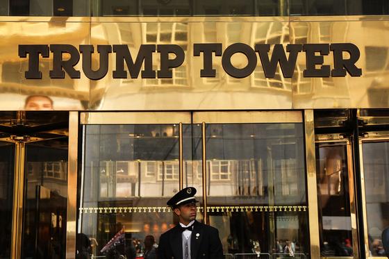 미국 뉴욕주 맨해튼 5번가의 트럼프타워. [AFP=연합뉴스]