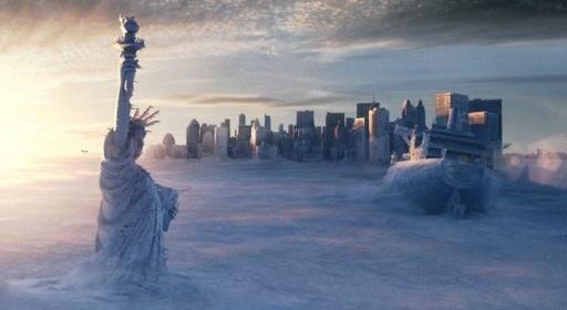 급격한 해빙은 해수면을 상승시켜 많은 도시들을 집어삼킬 수 있다. [사진 영화 투모로우]