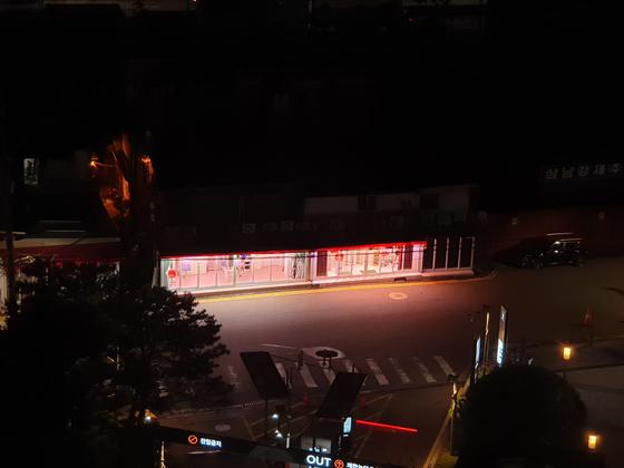 12일 밤에 찾은 영등포 성매매 집결지. 이병준 기자