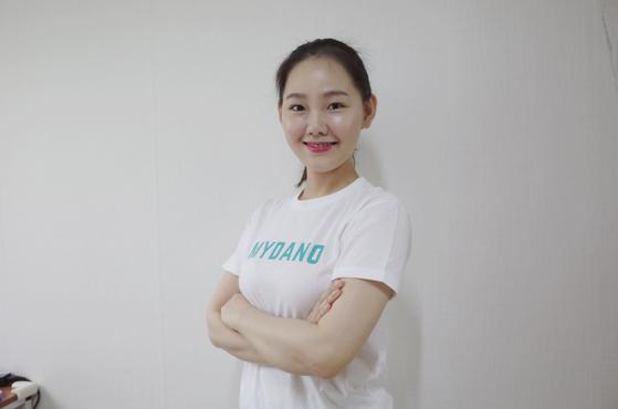 '링고 코치'라는 이름으로 활동하고 있는 2년차 다노 코치 황수미(29)씨 [사진 다노]