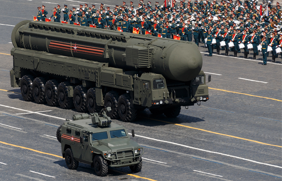 RS-24 야르스 대륙간탄도미사일. [타스=연합뉴스]