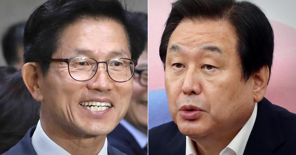김문수 전 경기지사(왼쪽)과 김무성 자유한국당 의원. [중앙포토·연합뉴스]