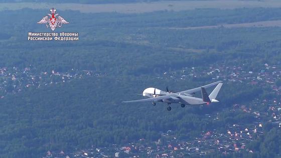 일명 Altair(견우성)으로도 알려진 드론 Altius-U가 첫 비행을 하고 있다. [TASS=연합뉴스]