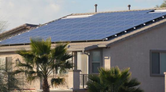 미국 애리조나주 마리코파 주택에 설치된 한화큐셀의 태양광 모듈. [사진 한화큐셀]