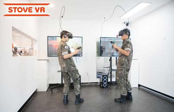 스마일게이트 스토브는 21일부터 경기도 양주 소재 육군 72사단의 복합문화공간 '문화컴플렉스'에서 VR 게임룸을 운영한다. [사진 스마일게이트]