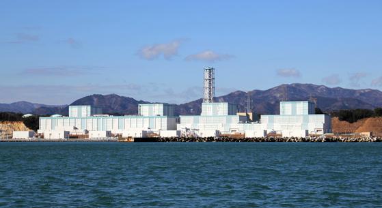 일본 후쿠시마 원전앞 바다. [중앙포토]