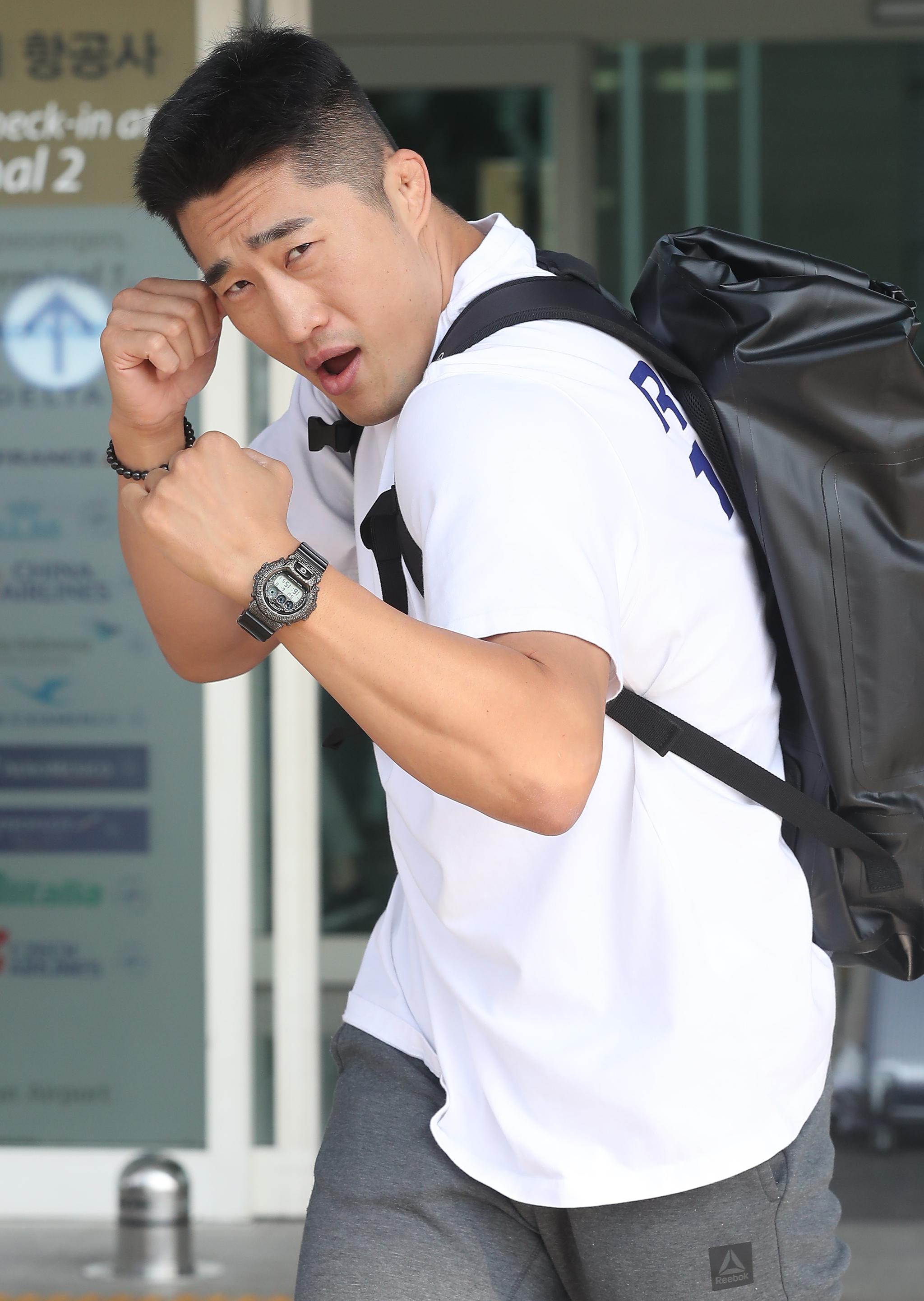 격투기 무대에서 스턴건으로 통했던 김동현은 예능에서는 호들이라 불린다. 겁 많고 호들갑스러운 캐릭터로 많은 사랑을 받고 있다. [중앙포토]