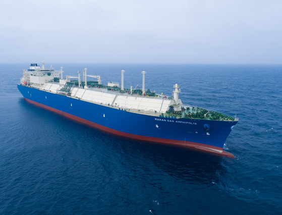 대우조선해양이 건조한 LNG 운반선. [사진 대우조선해양]