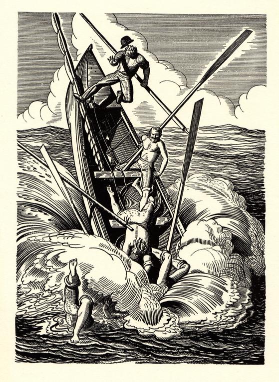 록웰 켄트가 그린 『모비 딕』 일러스트 버전. 미국에서 1930년 첫 출간됐다. [사진 문학동네]